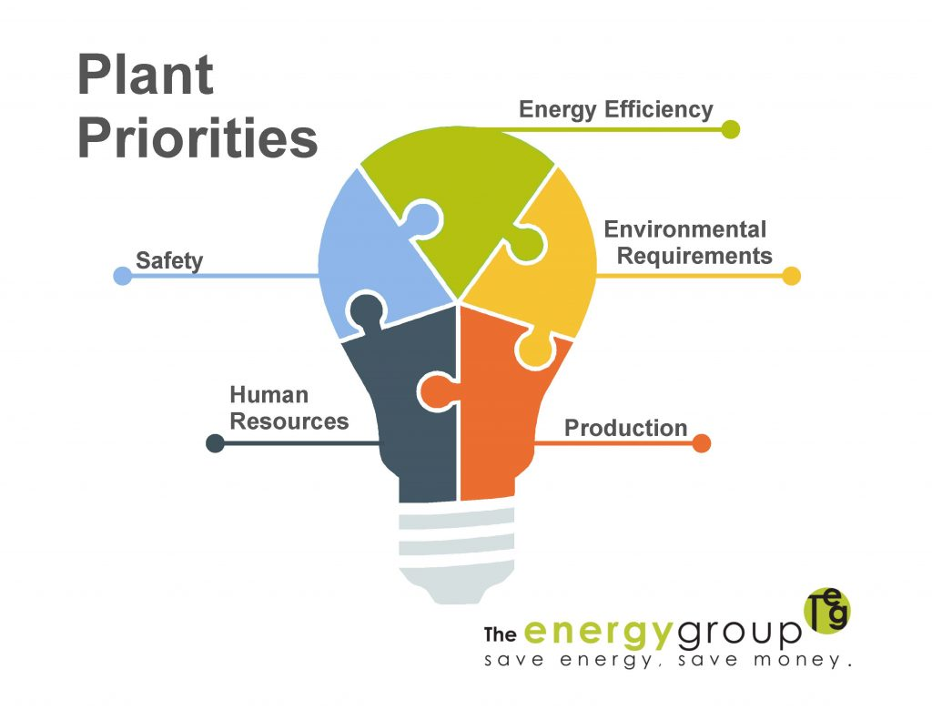 Plant Energy Management Priorities Infographic