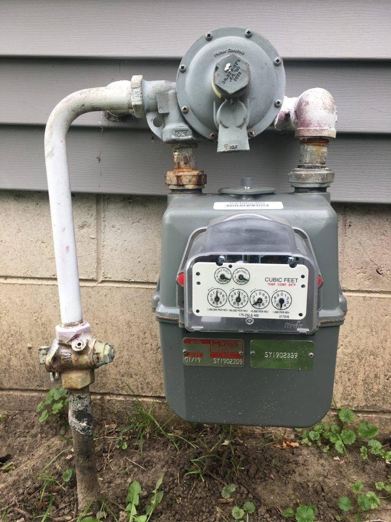 gas usage meter