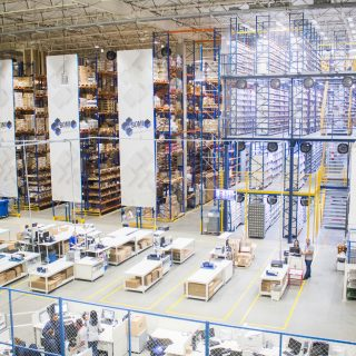 interior view of large warehouse