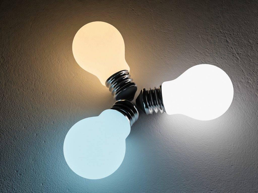 led bulb color comparison