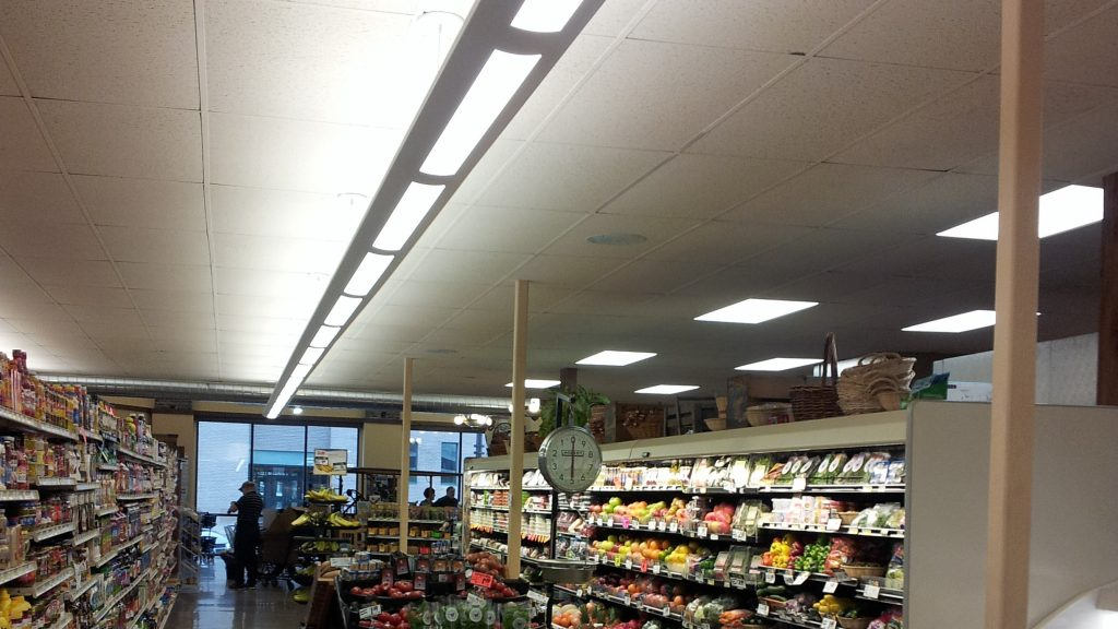 grocery store aisle lighting
