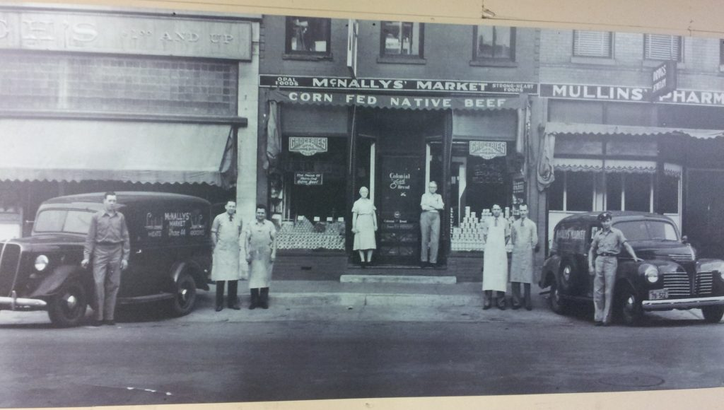 old McNally's storefront