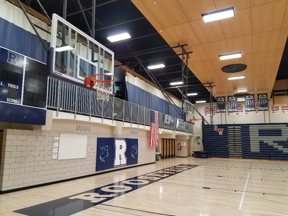 picture of led lighting Roosevelt high school