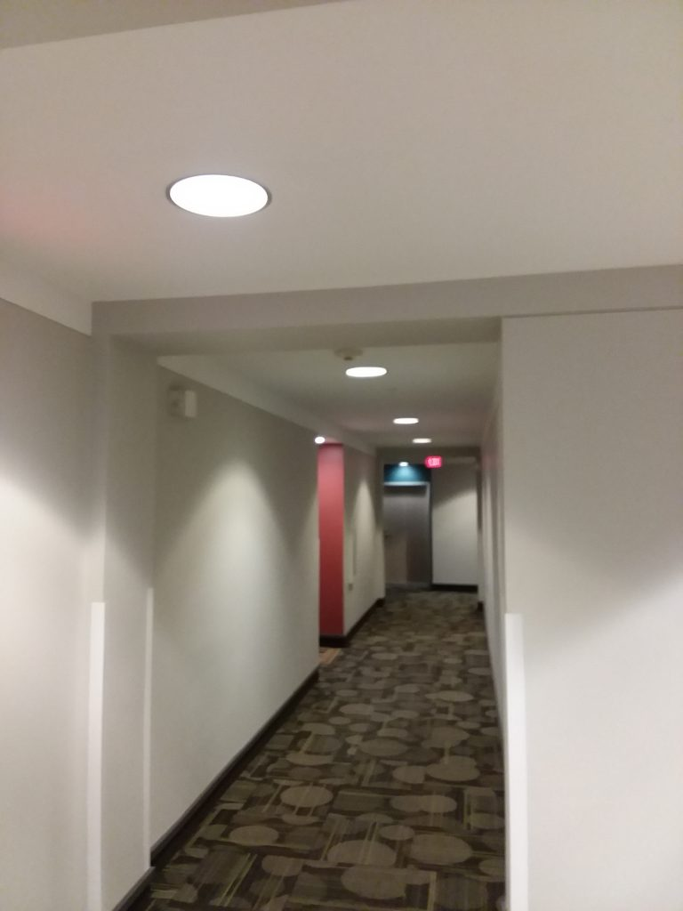 photo of hallway lighting